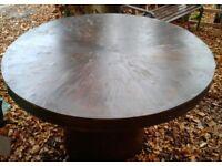 Round Wooden Garden Table