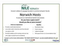 Hosts in Norwich wanted for international students