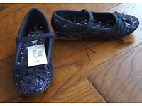 Bluezoo girls sparkle party shoes, size 9