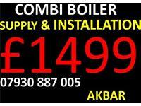 COMBI BOILER SUPPLY AND INSTALLATION £1499, gas safe heating & plumbing, MEGAFLO, Back boiler remov