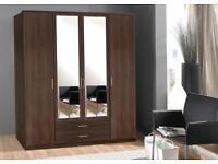 4 Door or 3 Door Omega German Wardrobe EXPRESS DELIVERYMIRROR