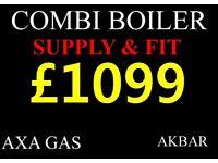COMBI BOILER SUPPLY & FIT, megaflo, GAS SAFE HEATING & plumbing, UFH, Vaillant, Worcester, back boil