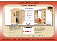 SHED AND LOG STORE Combo. ( 2 Separate Items) AUTUMN Special offer ! Only £ 999.00