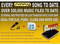EVERY SUNFLY KAROKE FILE !! PLUS A LIFETIME COLLECTION OF MUSIC !!