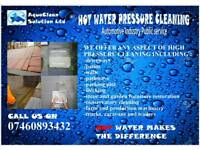Driveway HOT water jet wash cleaning power washing Monoblock Patio Walls