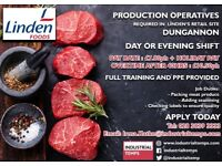 Production Operatives £7.80/hr + holiday pay + overtime £10.50/hr