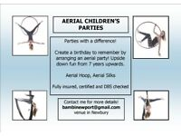 CHILDREN'S PARTIES - AERIAL FUN - HOOP, SILKS