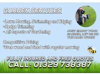 Garden Services Fareham - Grass Cutting from only £17.50!
