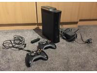 Xbox 360 Elite, Xbox Kinect, 2x games and 2x controllers