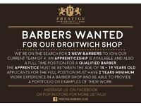 BARBER WANTED! To join our expanding Droitwich shop!