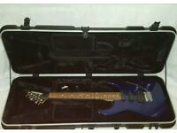 Boxed Jackson guitar with touring case