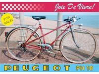 Vintage Peugeot PH18 Ladies 5 Speed Bicycle