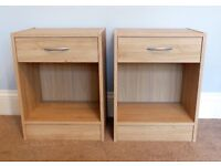 Pair Bedside Cabinets/ Bedside Tables with one Drawer