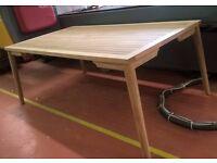 New teak bespoke garden table