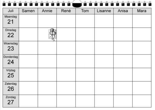 Ongebruikt ≥ Gezinskalender, Familie Kalender, Familieplanner - Kalenders en PP-39