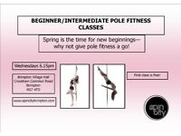 BEGINNER/ INTERMEDIATE POLE FITNESS CLASSES BRIMPTON