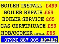 boiler installation, boiler service, GAS CERT,HOB , COOKER INSTALL