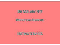 Professional Writer & Academic: Editing/Tutor/Coach/Consultancy for help/advice on PhD/book/article