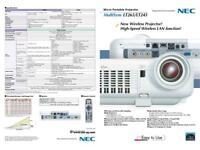 NEC Multisync LT245 Wireless projector