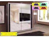 London Sliding Mirrored Wardrobe size 120/150/180/203/250cm and 5 avaliable CLR