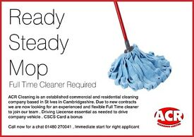 Full Time Experience Cleaner needed