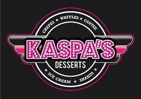 WAITER/WAITRESS/BARISTA/KITCHEN PORTER REQUIRED FOR BUSY DESSERT PARLOUR