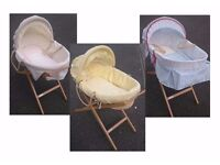 3 Moses Baskets - Mothercare or Mamas & Papas REDUCED TO CLEAR!