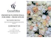 Premium Flower Walls and Backdrop Settings for HIRE or SALE