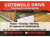 Cotswold drive fencing & landscaping. Driveways, block paving, patios, turf, groundworks