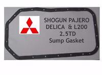 MITSUBISHI SHOGUN PAJERO DELICA L200 & HYUNDI 2.5TD 2.5 TD 4D56 SUMP GASKET