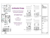Architectural Service & Caluclations from £800
