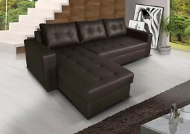 **7-DAY MONEY BACK GUARANTEE!** Onix Italian Faux Leather Sofabed with Storage - QUICK DELIVERY!