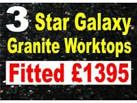 3 Star Galaxy Granite Worktops Supplied & Fitted from £1395 - Scotlands Highest Rated Supplier