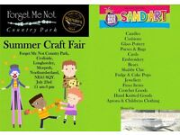 Summer Craft Fair 23rd July 11am to 3pm Forget Me not Country Park, Long Horsley