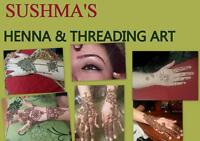 HENNA  TATTOO EYEBROWS THREADING UNDER ONE ROOF.