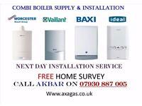 £399 COMBI BOILER REPLACEMENT,SWAP,underfloor heating,back boiler removed,boiler repair,powerflush