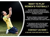 WOMEN'S FOOTBALL TEAM - NEW PLAYERS REQUIRED