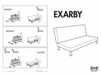 IKEA Exarby sofabed double futon for sale dickens Heath