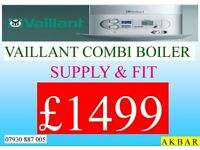COMBI BOILER INSTALLATION, back boiler removed, GAS SAFE HEATING & plumbing, POWERFLUSH, vaillant