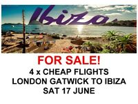 4 x Very Cheap Direct Flights from London Gatwick to Ibiza on Saturday 17 June with Norwegian Air