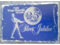 Pack Of Vintage 'Top Rank Silver Jubilee' Playing Cards (boxed)
