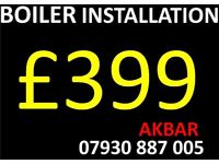 BOILER INSTALLATION,powerflush, BACK BOILER & CYLINDERS REMOVED, UFH, full house plumbing, VAILLANT