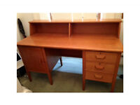 Large study desk with drawers and cupboard space