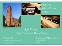 Piano, Organ, Music Theory & Singing Lessons. GCSE & A-Level Music Tuition