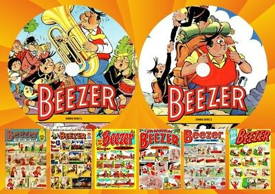 Beezer Comics & Annuals UK ON Two DVD Rom's