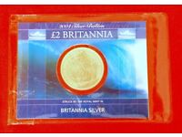 Silver Britannia Bullion coins .999 Uncirculated. Four available inc postage to UK addresses.