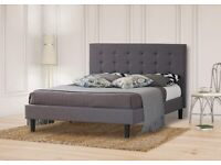 Double Bed Frame Grey 4ft6