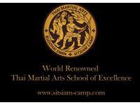 Classes in Muay Thai (Thai Boxing) and Thai Martial Arts, Sitsiam Camp