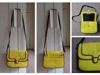 Neon Yellow Saddle Bag