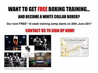 FREE BOXING CLASSES; become a white collar boxer